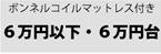 ボンネルコイルマットレス付きベッド/7万円未満