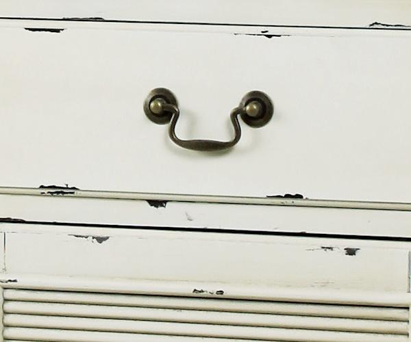 【フレンチアンティークBlossomシリーズ】スリムキャビネット/食器棚